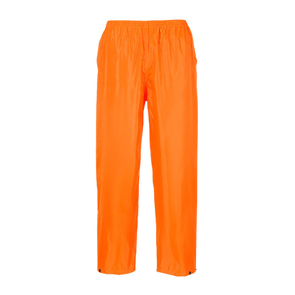 PortWest Non-ANSI Hi Vis Orange Classic Rain Pants S441OR
