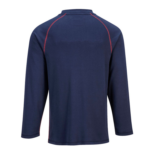 PortWest FR Moisture Wicking Bizflame Crew Neck FR01 Navy Back