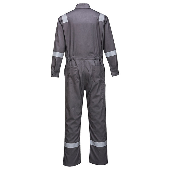 PortWest FR Bizflame Iona Coverall FR94 Grey Back