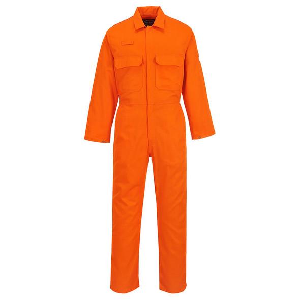PortWest FR Orange Bizweld Coverall UBIZ1OR