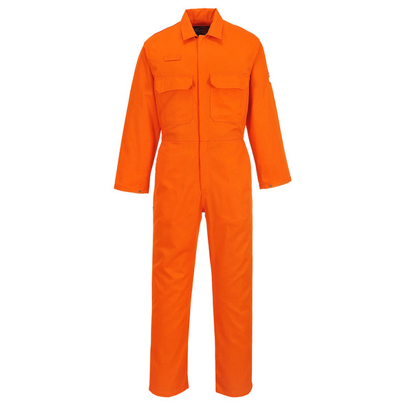 PortWest Flame Resistant Orange Bizweld Unlined Coverall UBIZ1OR
