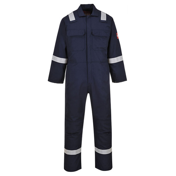 PortWest Flame Resistant Navy Bizweld Iona Unlined Coverall UBIZ5NA