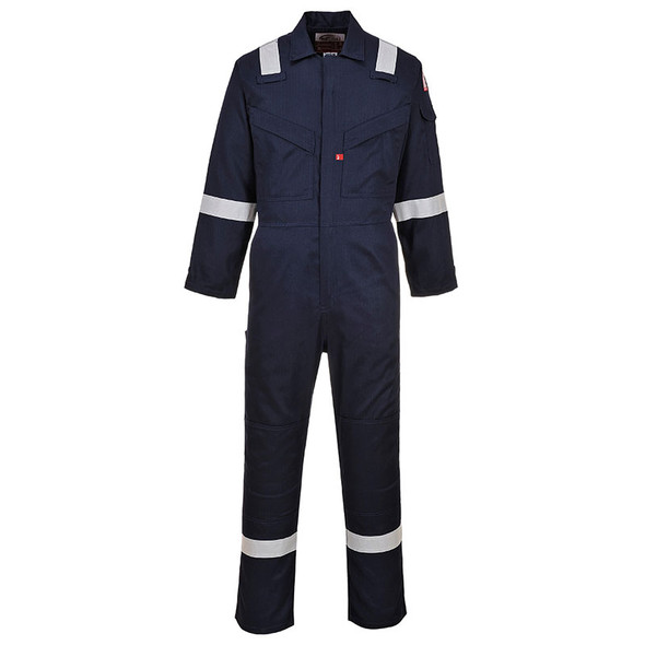 PortWest FR Navy Super Light Weight Anti-Static Coverall UFR21NA