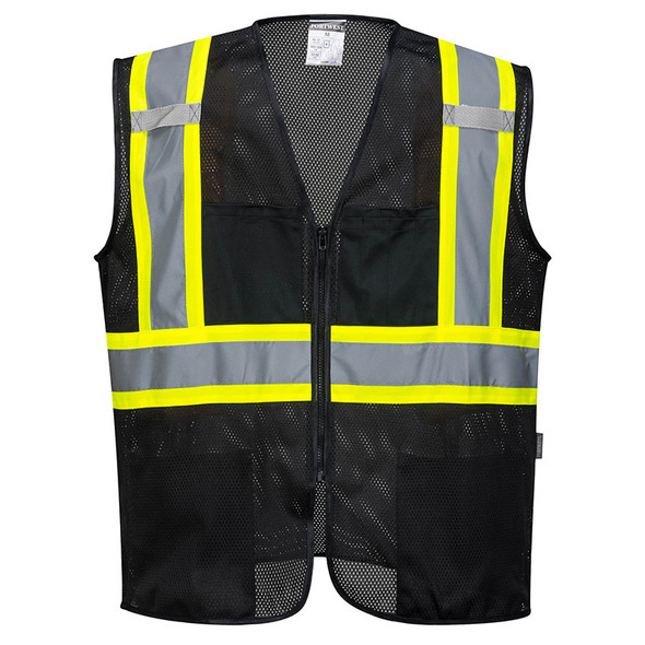 PortWest Enhanced Visibility Iona Xtra Mesh Vest US391 Front