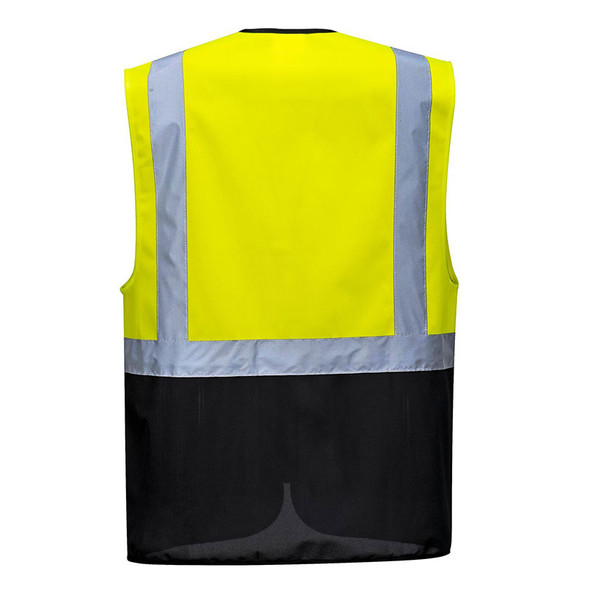 PortWest Class 1 Enhanced Visibility Warsaw Vest UC476 Back