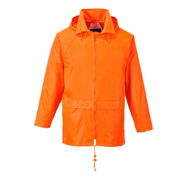 PortWest Non-ANSI Orange Classic Rain Jacket US440OR