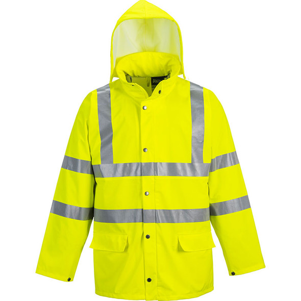 PortWest Class 3 Hi Vis Yellow Sealtex Ultra Unlined Rain Jacket US491