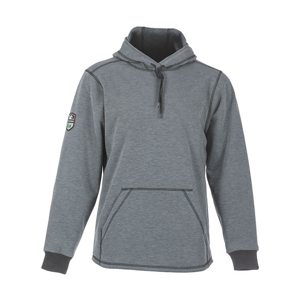DragonWear FR Elements Cyclone Pull-Over Grey Made in USA Hoodie DFMC143 Front
