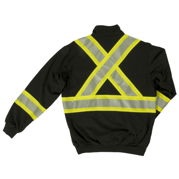 Work King Safety Class 1 X-Back Enhanced Visibility Black Pullover SJ19BLK Back