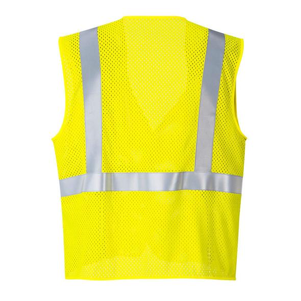 PortWest FR Class 2 Hi Vis Yellow Mesh Vest UMV21 Back