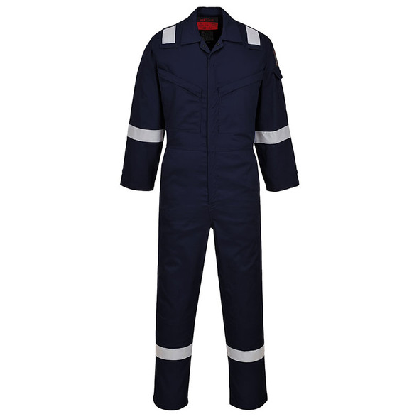 PortWest FR Araflame Navy Blue Unlined Coveralls UAF73NA