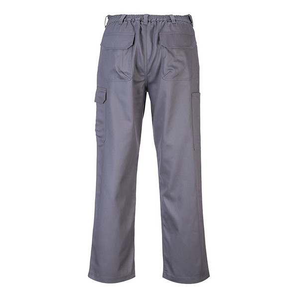 PortWest FR BizWeld Grey Cargo Pants BZ31GR Back