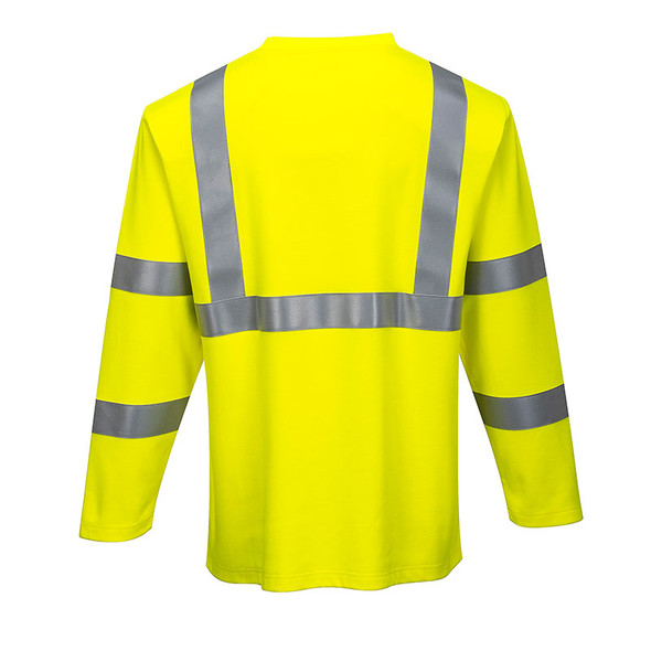 Portwest FR Class 3 Hi Vis Long Sleeve T-Shirt FR96 Back