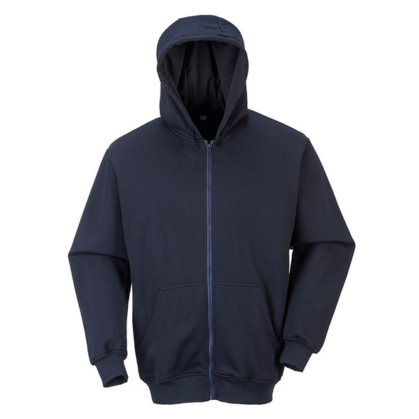 PortWest FR Zipper Front Hooded Sweatshirt UFR81 Front