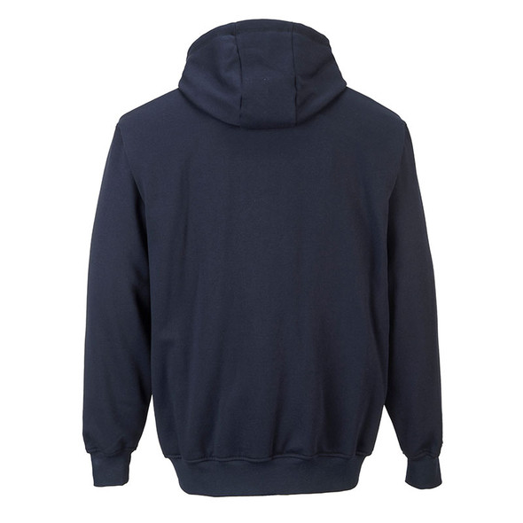 PortWest FR Zipper Front Hooded Sweatshirt UFR81 Back