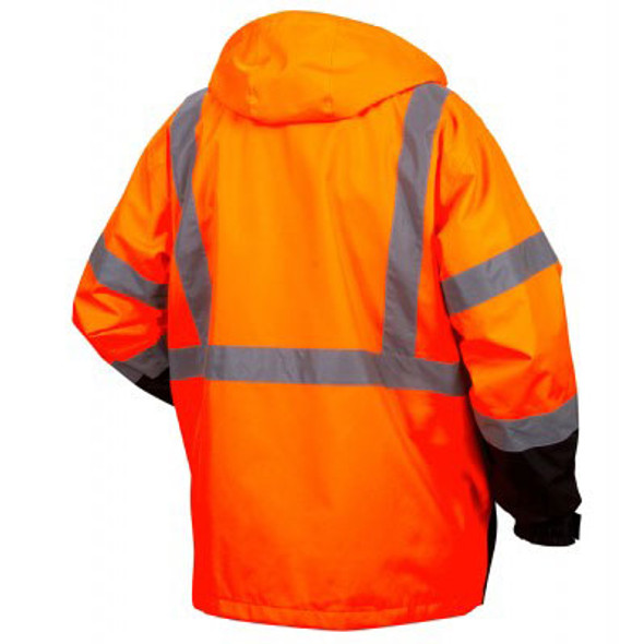Pyramex Class 3 Hi Vis Orange Black Bottom 2-in-1 Parka RP3120 Back