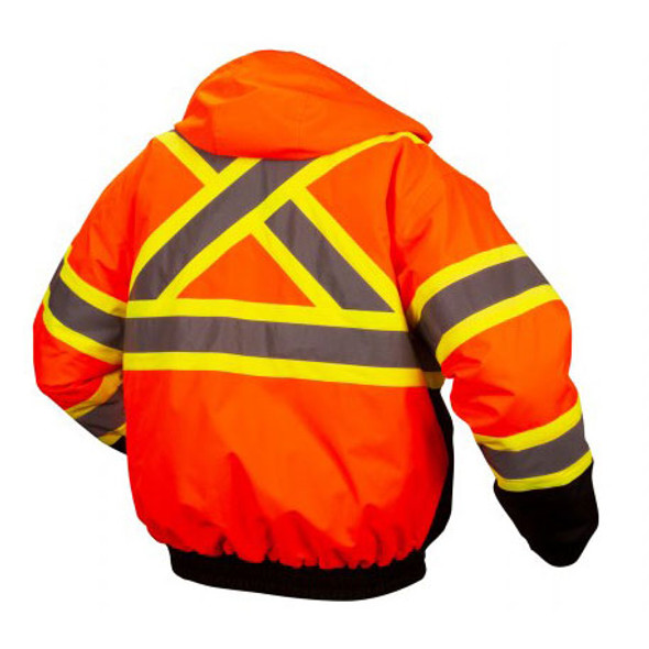 Pyramex Class 3 Hi Vis X-Back Two-Tone Orange Black Bottom Jacket RCJ3220 Back