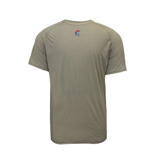 NSA FR Short Sleeve Moisture Wicking Khaki Made in USA T-Shirt C51FRSR