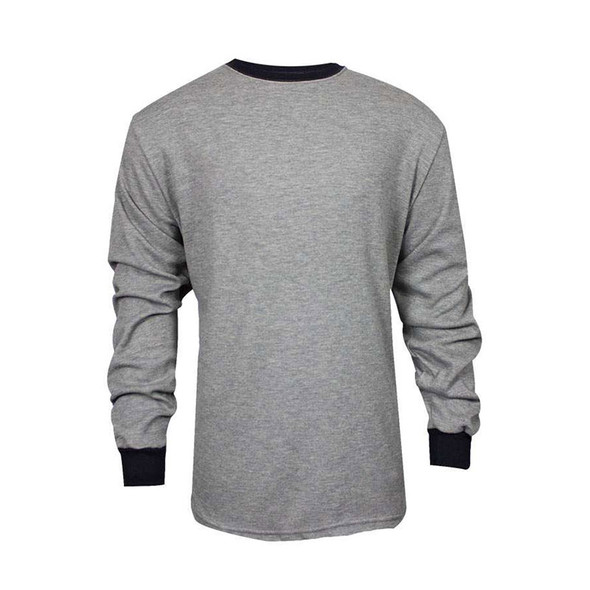TECGEN FR Select Moisture Wicking Long Sleeve Grey Made in USA T-Shirt C541NGELS