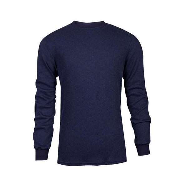 TECGEN FR Select Moisture Wicking Long Sleeve Navy Blue Made in USA T-Shirt C541NNBLS
