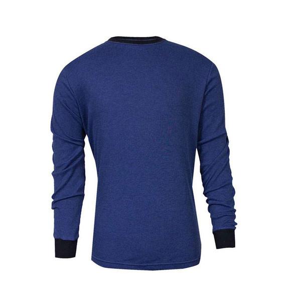 TECGEN FR Select Moisture Wicking Long Sleeve Royal Blue Made in USA T-Shirt C541NRBLS
