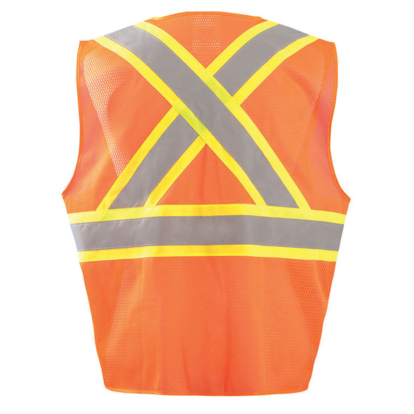 Occunomix Class 2 Hi Vis X-Back Two-Tone Surveyor Mesh Vest ECO-ATRNSMX Orange Back