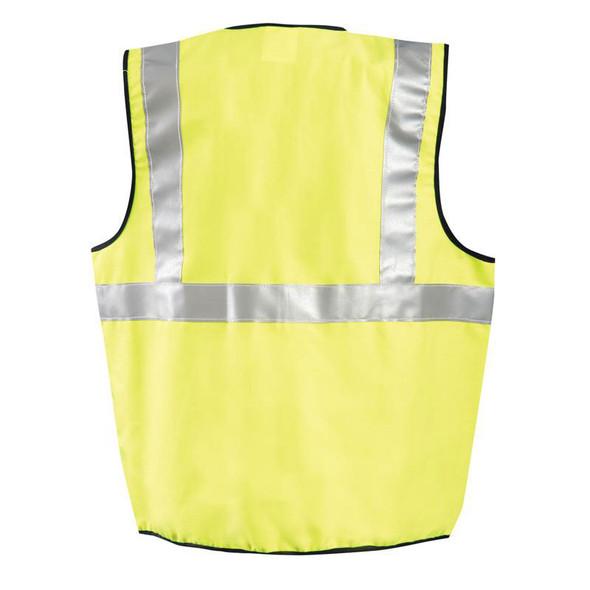 Occunomix FR Class 2 Hi Vis Yellow Solid Vest FR-VM1112 Back