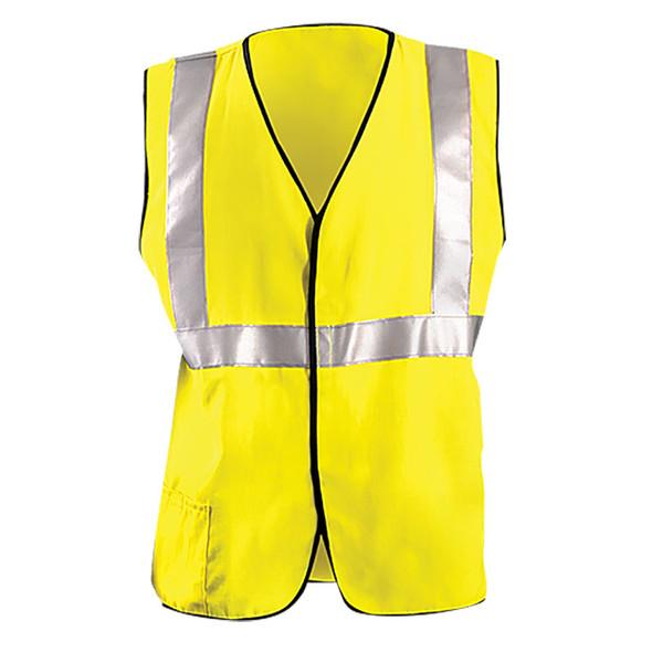 Occunomix FR Class 2 Hi Vis Yellow Solid Vest FR-VM1112 Front
