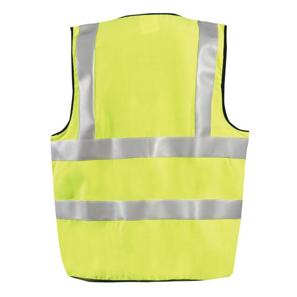 Occunomix FR Class 2 Hi Vis Yellow Premium Solid Vest FR-VM1122 Back