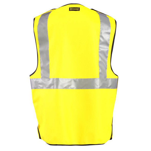 Occunomix FR Class 2 Premium 5-Point Breakaway Solid Vest FR-VM1312 Back
