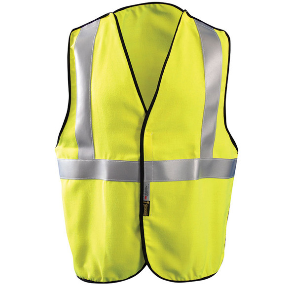 Occunomix FR Class 2 Premium 5-Point Breakaway Solid Vest FR-VM1312 Front