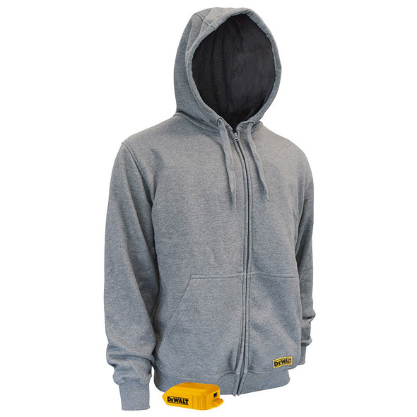 DeWALT Heated French Terry Hoodie with Adapter DCHJ080B Front