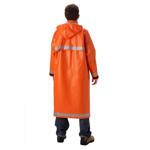 NASCO FR Enhanced Visibility Orange ArcLite Made in USA Raincoat 1103CBO Back
