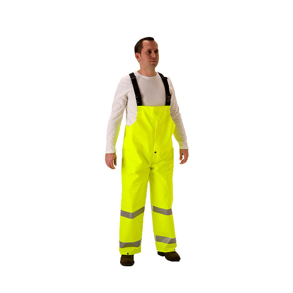 NASCO FR Class E ArcLite Air Yellow Bib Overalls 1701TFY Front