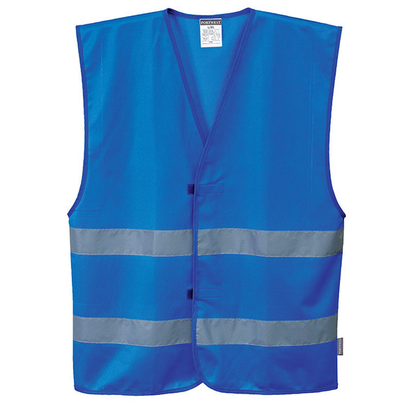 PortWest Enhanced Visibility Iona Royal Blue Safety Vest F474RB