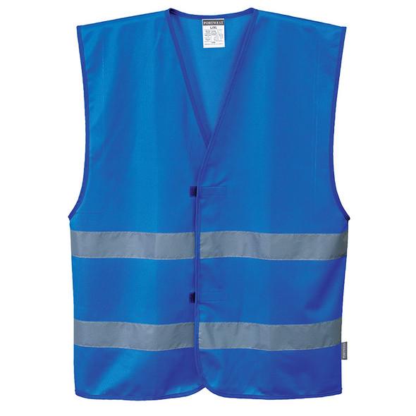 PortWest Enhanced Visibility Iona Royal Blue Safety Vest F474RB