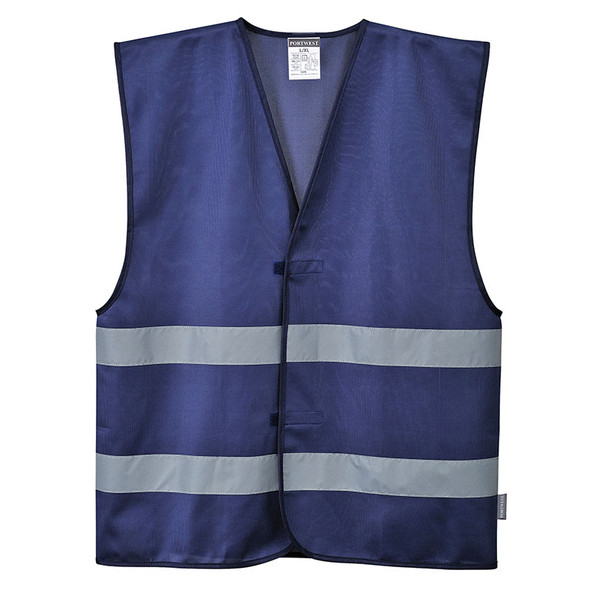 PortWest Enhanced Visibility Iona Navy Safety Vest F474NA