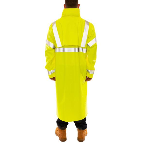 Tingley FR Class 3 Hi Vis Yellow Eclipse Raincoat C44122 Back