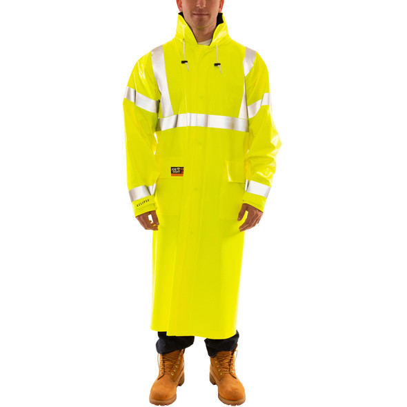 Tingley FR Class 3 Hi Vis Yellow Eclipse Raincoat C44122 Front