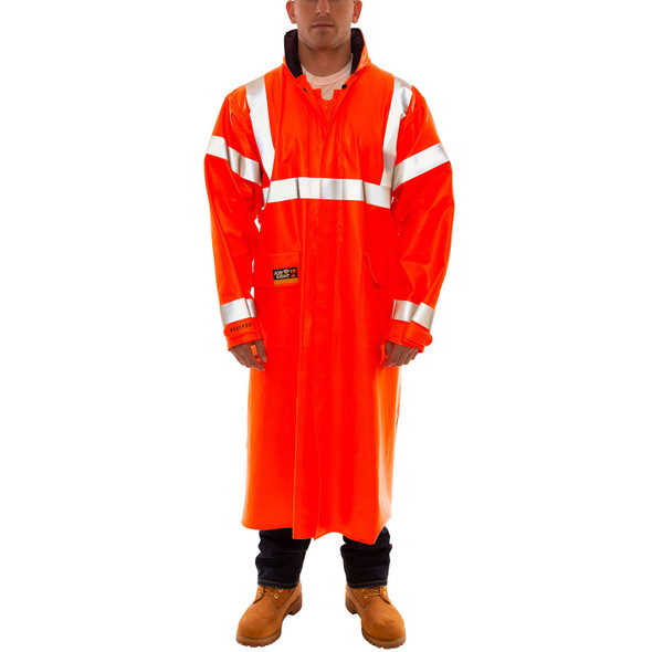 Tingley FR Class 3 Hi Vis Orange Eclipse Raincoat C44129 Front
