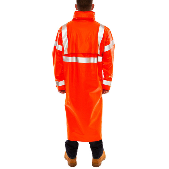 Tingley FR Class 3 Hi Vis Orange Eclipse Raincoat C44129 Back