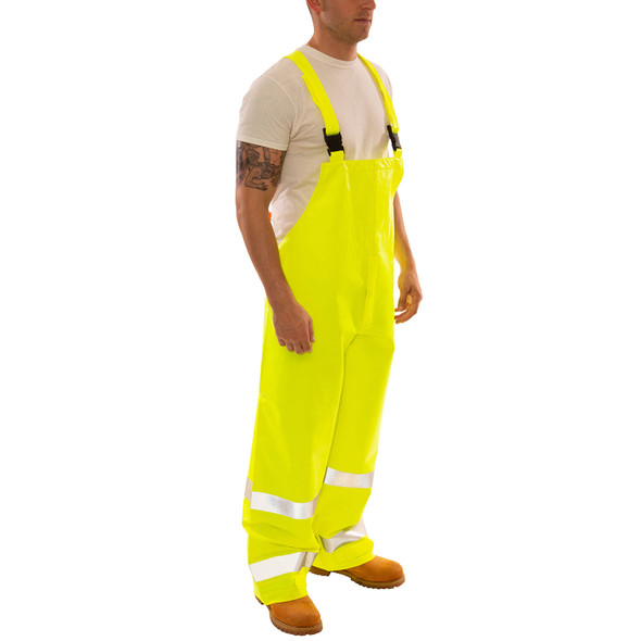 Tingley FR Class E Hi Vis Yellow Eclipse Rain Overalls O44122 Side