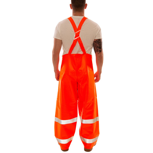 Tingley FR Class E Hi Vis Orange Eclipse Rain Overalls O44129 Back