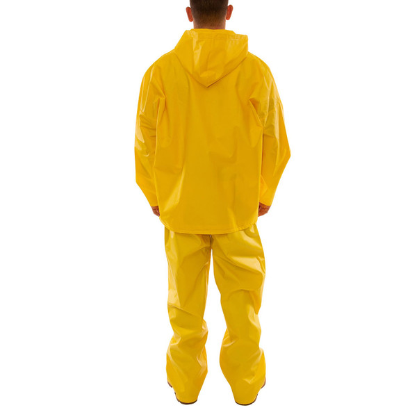 Tingley ASTM D6413 Industrial Yellow DuraScrim 3-Piece Rain Suit S56307 Back of Suit