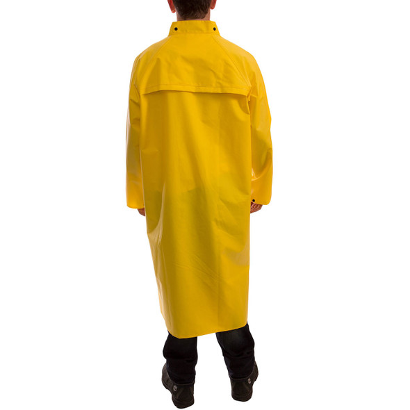 Tingley ASTM D6413 Industrial Yellow DuraScrim Raincoat C56207 Back