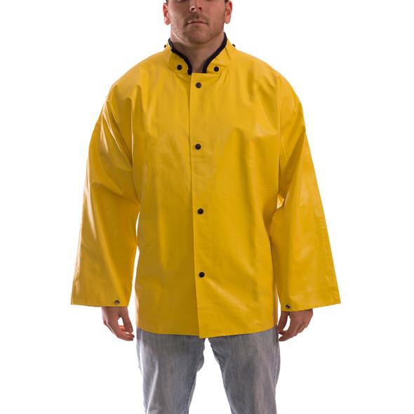 Tingley ASTM D6413 Industrial Yellow Magnaprene Chem Splash Jacket J12207 Front