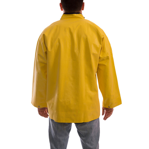 Tingley ASTM D6413 Industrial Yellow Magnaprene Chem Splash Jacket J12207 Back