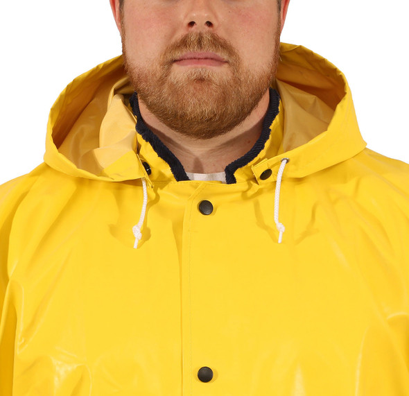 Tingley ASTM D6413 Industrial Yellow Magnaprene Chem Splash Hood H12107 Front