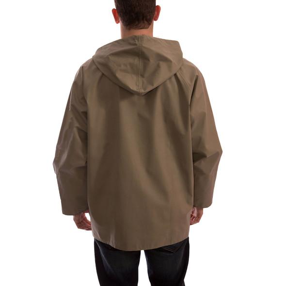 Tingley ASTM D6413 Industrial Olive Drab Magnaprene Chem Splash Jacket J12148 Back