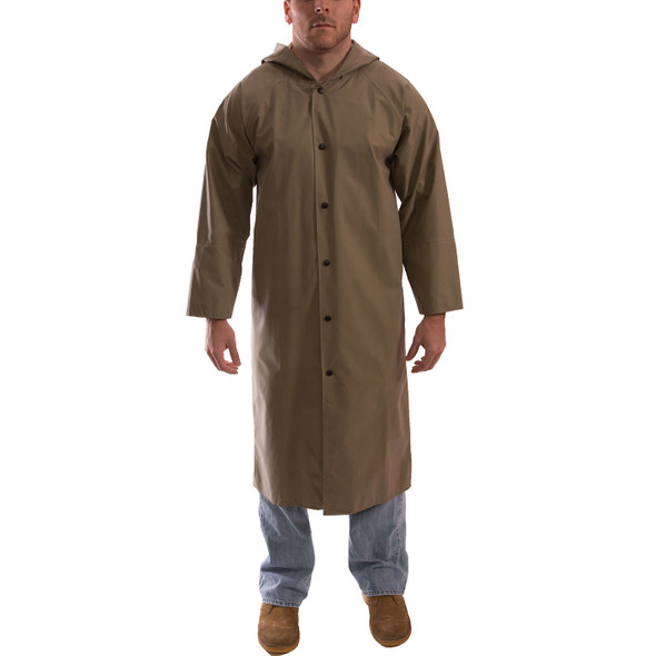 Tingley ASTM D6413 Industrial Olive Drab Magnaprene Chem Splash Coat C12148 Front
